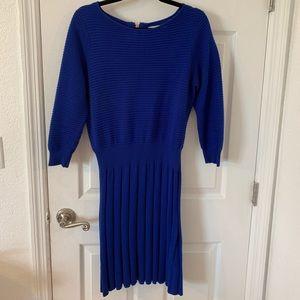 Eliza J long sleeve, knee length fit & flare dress
